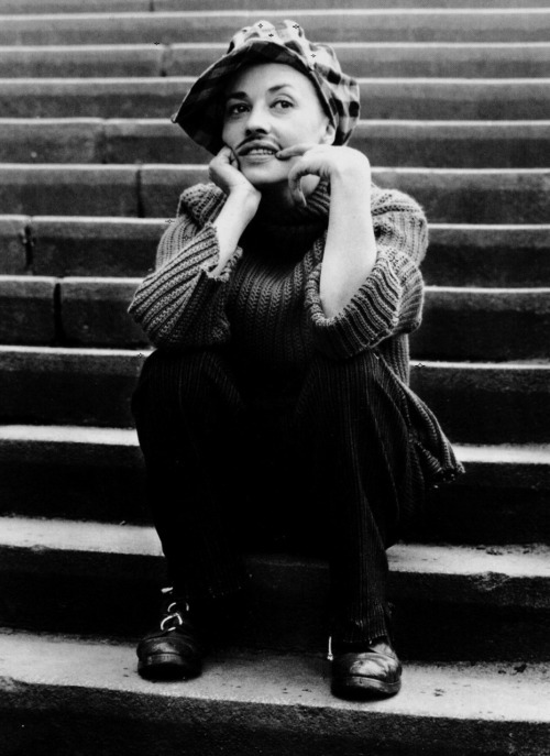 "Jeanne Moreau as ""Thomas"" in Jules & Jim (1962, dir. Francois Truffaut) (via François Truffaut: The Complete Films) ""Catherine was proud of her successful disguise. The men were moved, as if by a symbol they didn't understand."""