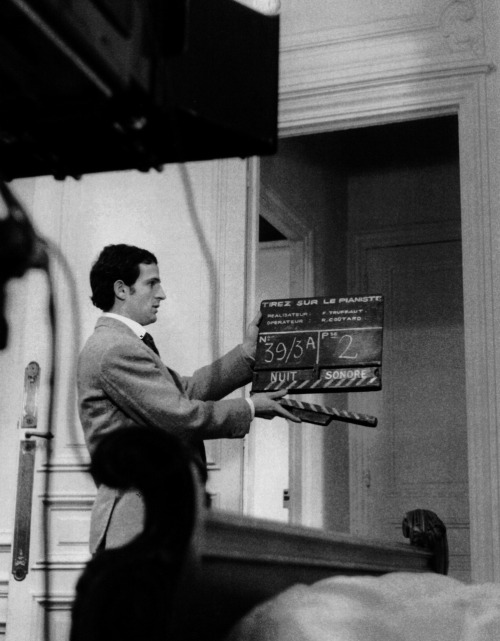 "Francois Truffaut on the set of Shoot the Piano Player (1960, via François Truffaut: The Complete Films) ""I shall wind up my defense of criticism by observing that excessively kind notices, coming from all sides and lasting a career, can sterilize an artist more effectively than the cold shower that wakes one up to real life. That must have been what Jean Paulhan had in mind when he wrote, 'Bad reviews preserve an author better than alcohol preserves a piece of fruit.'"" -Francois Truffaut, What Do Critics Dream About? (1975)"