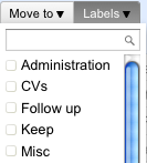 Gmail - Clicking one label applies the label but you can check several boxes to apply multiple labels at once /via MistralZ