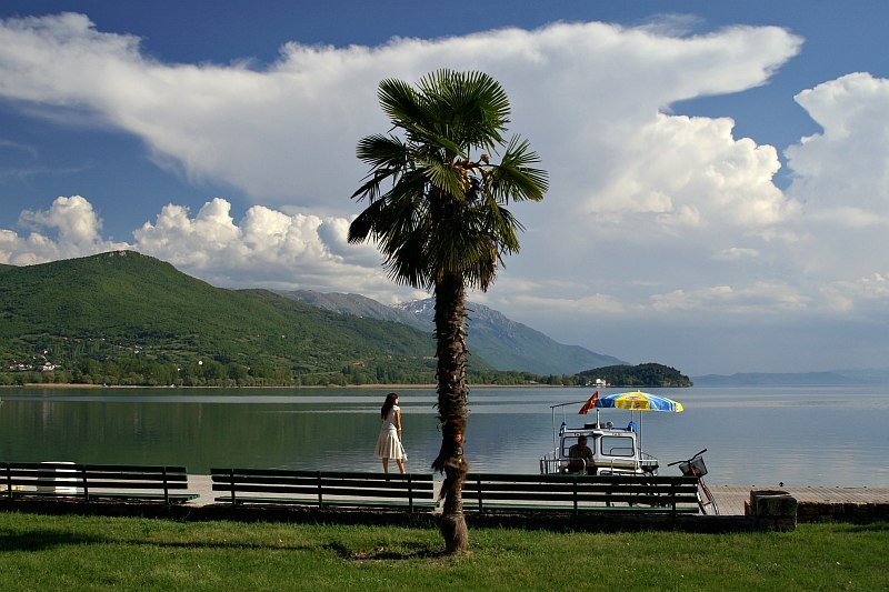 Ohrid Quay, Macedonia by Alan Grant