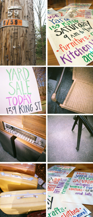Yard Sale: Signage + Stuff