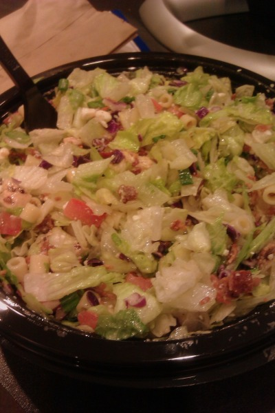 dearlife86:  My favorite salad on earth! Portillo's chopped salad!  only in Chicago. :) Portillo's Chopped salad. Yuuumm !