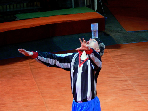 A clown in the Big Moscow Circus.