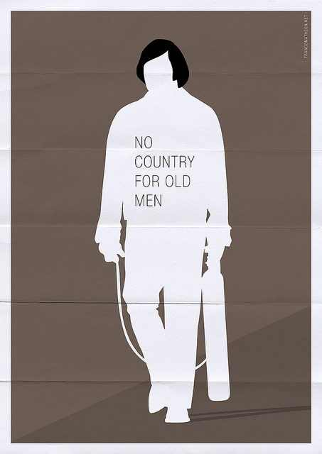 minimalmovieposters:  No Country For Old Men by Franco Mathson  Tomorrow: Javier Bardem