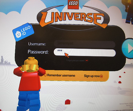 Lego - The lego character covers his eyes when a user types in their password. /via acmeideas