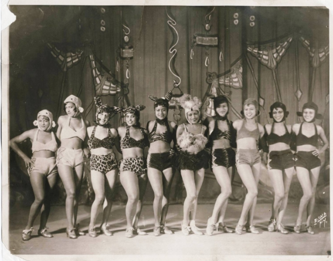 "This stunning photograph (reblogged from vintagegal) of African American vaudevillian showgirls is a reminder that mainstream American culture - even cultural forms that have historically trafficked in racial and gender stereotypes like vaudeville - has always included women of color (if in limited and uneven ways). The caption from the Black History Album reads: ""African American vaudeville performers (showgirls/chorus line) dressed in very risque (for the time) feline costumes. Undated. Very likely early 1900s."" For more on this history of cultural intervention, see Brenda Dixon Gottschild's Waltzing in the Dark: African American Race Politics in the Swing Era (Palgrave MacMillan 2002) and Krystyn Moon's essay ""The Rise of Asians and Asian Americans in Vaudeville, 1880s-1930s."""