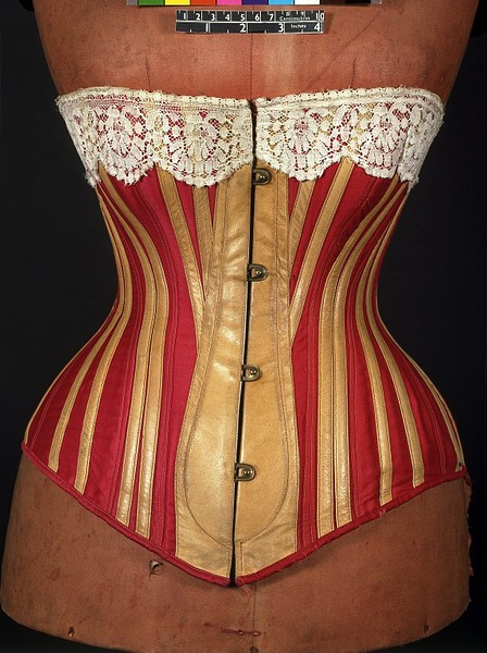 omgthatdress:  Corset ca. 1883 via The Victoria & Albert Museum