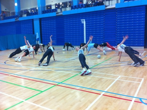 photo: Surrey Storm: Behind the scenes training shot! Being pushed by @simonelkinson http://twitpic.com/3t09ie
