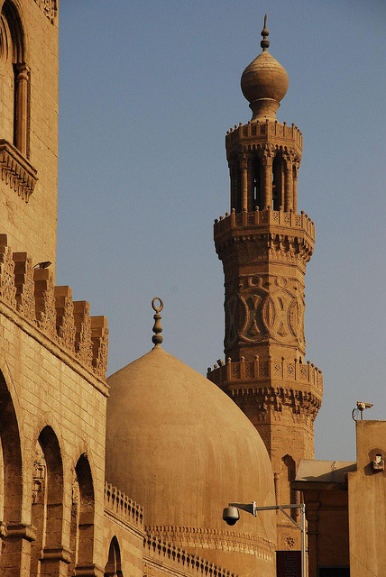 Dome and Minaret of Barquq Mosque, Historic Cairo - Egypt