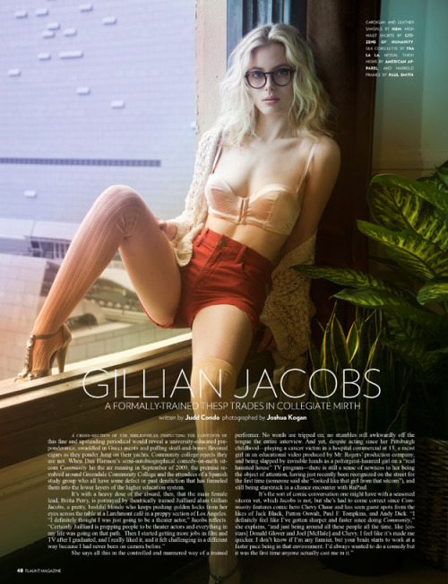 suicideblonde:  Gillian Jacobs photographed by Judd Condo for Flaunt #113