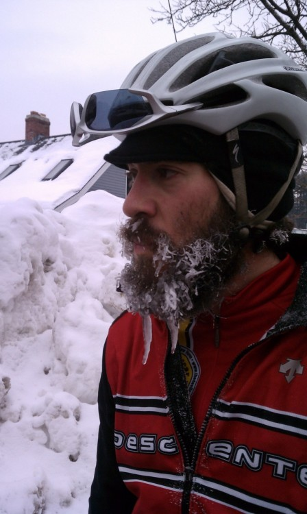 Beardcicle. This is why riding in New England rules and sucks at the same time.