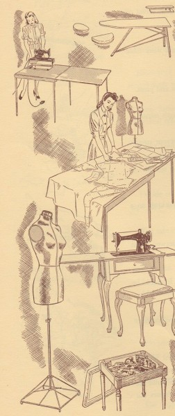 1940s Sewing Illustration