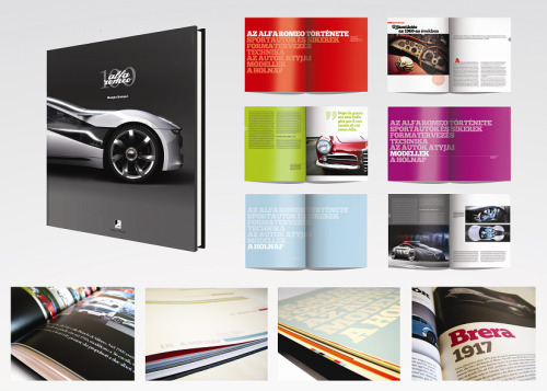 my book designed for the 100th anniversary of alfa romeo, schoolwork.