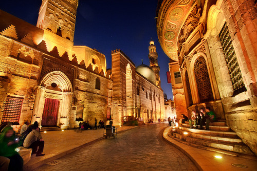 Muizz Street at Night, Historic Cairo - Egypt