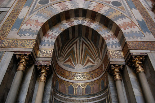 Mihrab at Sultan Hassan Mosque, istoric Cairo - Egypt