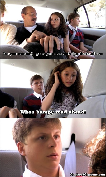capturedcaptions:  Arrested Development - S1E2 - Top Bannana - 2:16 Bumpy road ahead! Follow Captured Captions