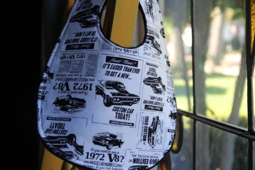 Hot Rod muscle car bib for your little racer here