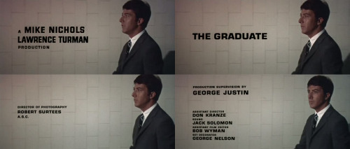 title-sequence: The Graduate (Mike Nichols - 1967)