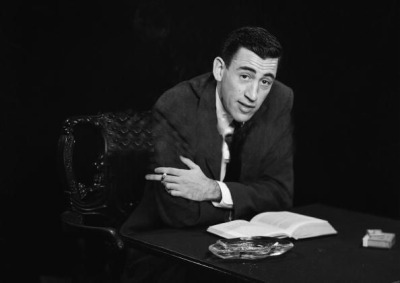 viai12bent:</p><br /> <p>J.D. Salinger, American master short story writer/novelist and recluse - died this day in 2010 from old age (at 91)…<br /><br /> Photo: Antony Di Gesu, Brooklyn, November 1952</p><br /> <p>In commemoration of the man, we repost one of our favorite essays, &#8220;Better to Fade Away than to Burn Out?&#8221; Editor Mary Borkowskidefends authorial privacy in an era where digitally enabled self-promotionis the norm; and with the rise of self-publishing&#8212;an imperative.<br /><br /> AsEmily Gould writes in MIT&#8217;sTechnology Review:</p><br /> <p>The other troubling aspect of self-publishing through patronage is the precedent it establishes for authors to become beholden to donors. The idea of paying for the privilege of instant-messaging with O&#8217;Connell and Grant squicks me out, as does the recent post I read online about how a young writer named Emma Straub was selling shares in the publication of her first novella: for $10 you could buy a signed and numbered copy with a letterpress cover, and if you wrote to her and told her you&#8217;d bought a share, she responded, &#8220;I will send you a thank you note. It may even come with chocolate chip cookies. I&#8217;m serious.&#8221; (&#8220;What&#8217;s next, authors will send you a lock of their hair?&#8221; a friend joked.)<br /><br /> Literary fame, even in the microscopic or hard-to-quantify doses available on the Internet, is a powerful intoxicant.</p><br /> <p>Indeed.<br /><br /> Without further ado, Mr. Salinger:</p><br /> <p>John Tremblay at Francesca Pia (Contemporary Art Daily)</p><br /> <p>&#8220;Writing, as such, takes an almost intolerable combination of hubris and naiveté. This has destroyed many a writer too soon, but not Salinger.Perhaps he wasn&#8217;t afraid of his own ambition or his failure, for that matter, but rather the ambitions of those he would inevitably become a loose signifier to: the critics.&#8221;</p><br /> <p>By Mary Borkowski<br /><br /> I burned all too 