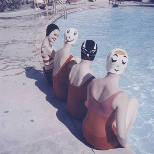 ralph crane - bathing caps with faces