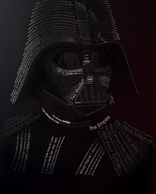 svalts:  Darth Vader Typography // By Guilherme Ranoya
