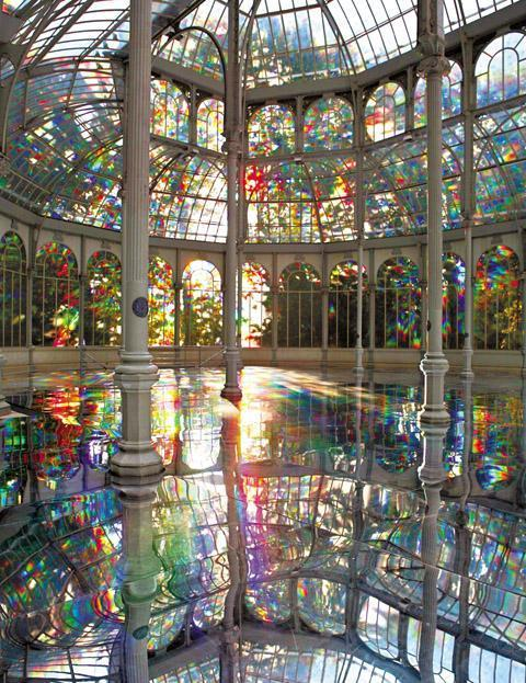 fuckyeahmadrid:  the-spectra:  Kimsooja, To Breathe, 2006.  Palacio de Cristal, Madrid.