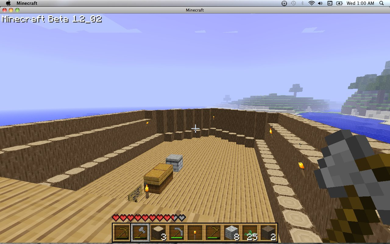 The next morning I decided to start building. I went out into the ocean and started my ship. A pirate ship. Or was in an ark? Maybe some of the biblical aspects of the previous world were still lingering in my mind.
