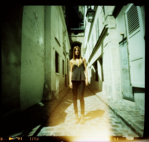 Alison | Shot with a Zero Image pinhole camera and cross processed Fuji Provia 100F