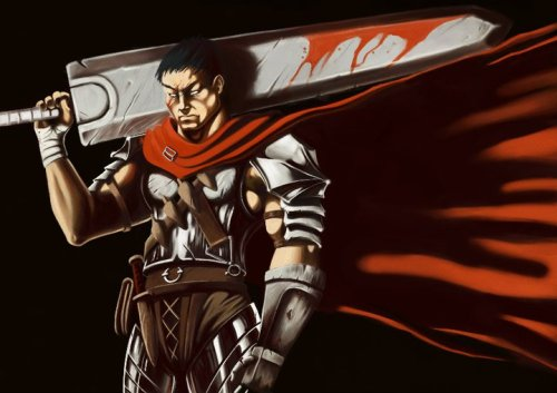 Guts from Berserk. The nerdiness will never end it seems.