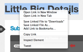 Twitter for Mac - After installing the app, right click on any text in Mac OS X to see a tweet option. /via Brendan Lee