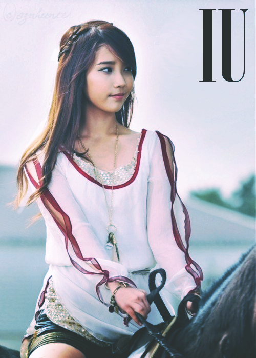 i love IU so much that i had to photoshop her xD