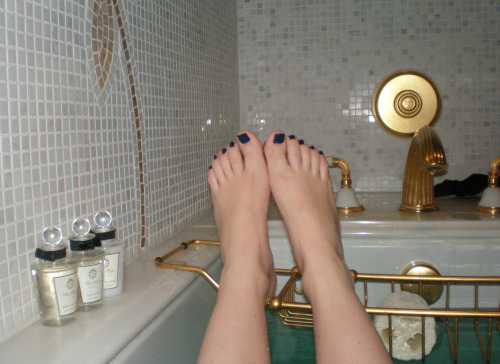 "RBL ""Dead Calm"" pedicure, after my first (and only) trip to Rescue Beauty Lounge."
