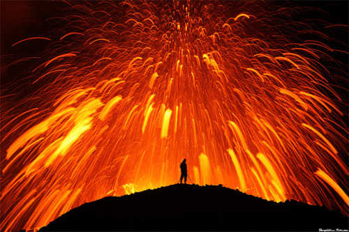 The Fimmvörðuháls eruption last year by Skarphéðinn Þráinsson. Some went a little bit closer than others.