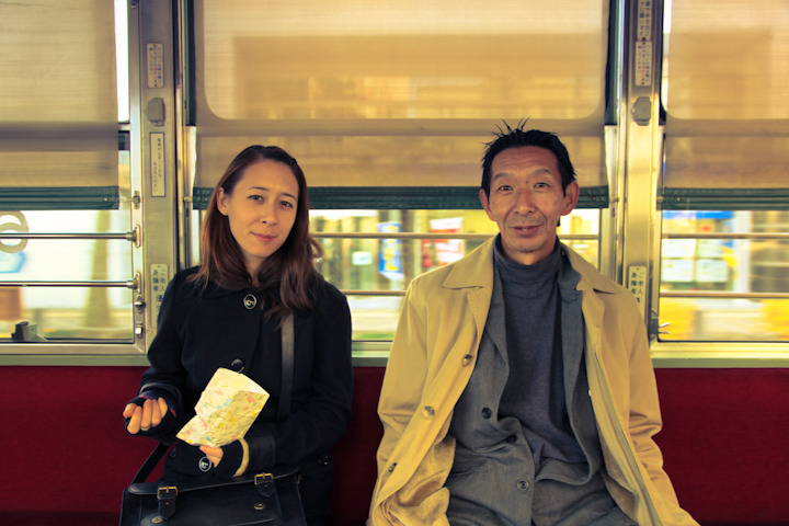 "PEOPLE OF AMERICA IN JAPAN 01 - ""MEET VICKI'S DAD"" Seeing as I've been writing so much about Vicki lately I figured I'd post this picture of Vicki and her dad. If you're ever in Washington D.C. please be sure to check out SUSHI EXPRESS, his awesome Sushi bar. If you tell him Vicki sent you maybe you'll get a discount!"