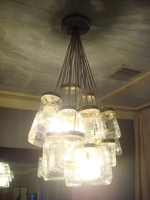 mason jar chandelier how to.