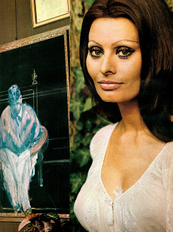 Sophia Loren photographed by Richard Avedon at The Villa Ponti for Vogue, December 1970.