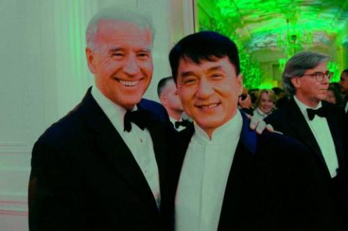 Jackie Chan with Vice President of the United States, Joe Biden