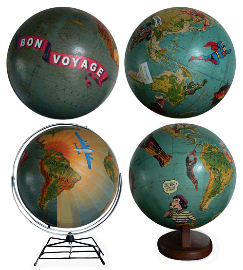 reginasworld:  Art on Globes