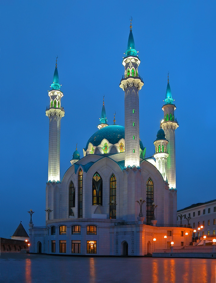 Thousand and one nights in Kazan, Tatarstan, Russia.