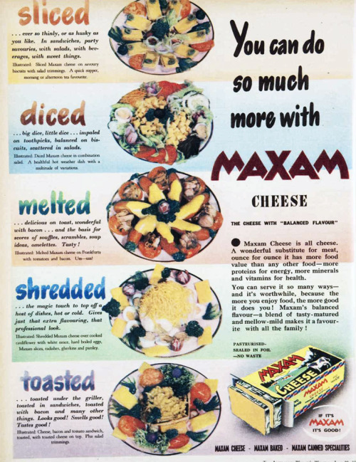 You can do so much more with Maxam cheese! 1951.