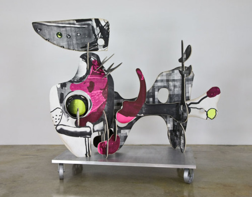Aaron CurryMr. Square in Flatland (Reclining), 2009painted wood, aluminum base81 x 100 x 52 inches (205.7 x 254 x 132.1 cm)