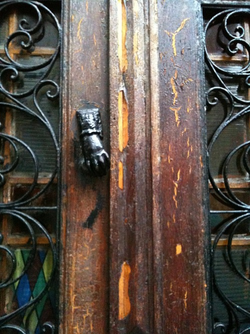 Door and knocker.