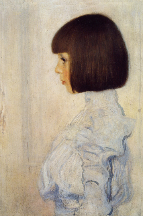 Gustav KlimtPortrait of Helene Klimt (niece), 1898, oil on cardboard, 60 x 40 cm, private collection.