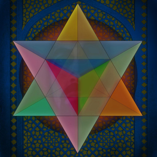 jumbi-ism:  Merkaba The electro-magnetic field of the human being The Star Tetrahedron (a three dimensional Star of David) is the sacred geometry at the center of this form and is the pattern of the etheric light grid that surrounds each human being.  This grid is called the Merkaba and it is an interdimensional vehicle used initially to incarnate spirit into human bodily form.  The Universal energy of Love is the fuel for this vehicle.