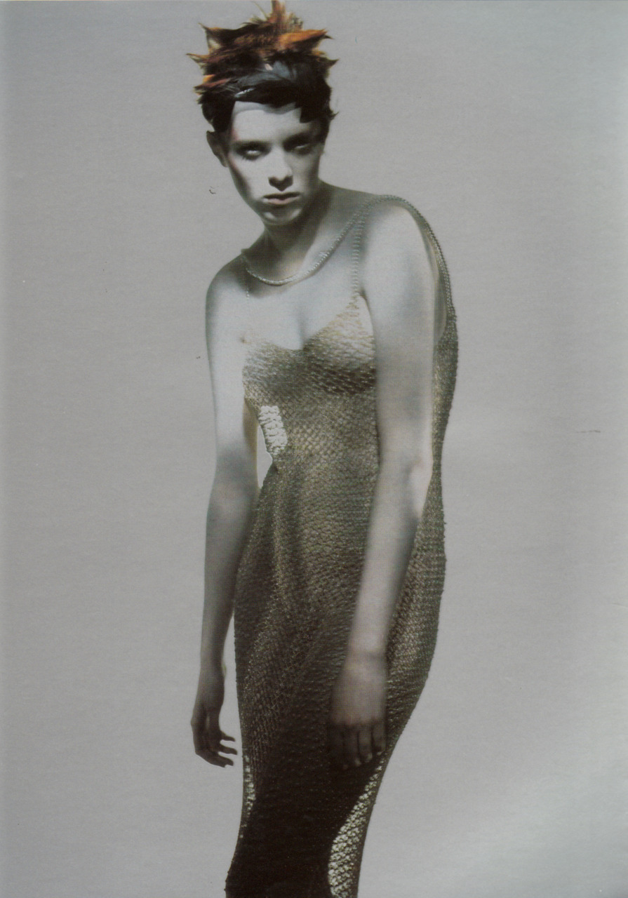 Christian Dior Spring 1998 Ready to Wear  MetallizzatoMagazine: Vogue Italia March 1998 Photographer: Paolo RoversiModel: Karen Elson