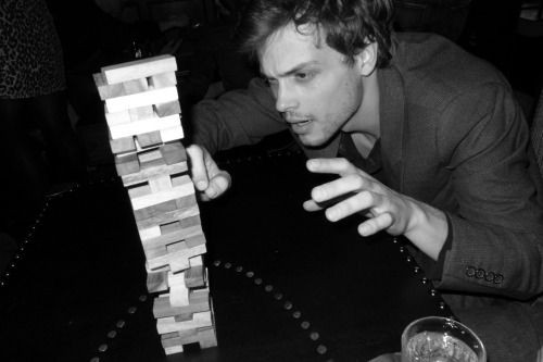 terrysdiary:  Gubler playing Jenga.