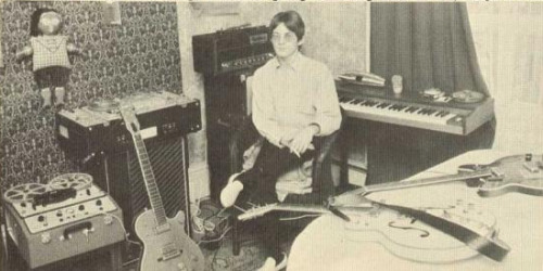 Steve Marriott in his home studio