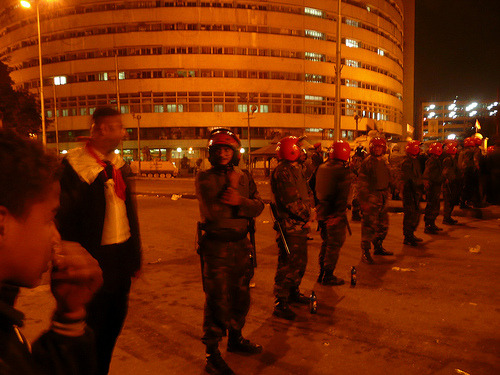 The Egyptian government shut down Al Jazeera's Cairo offices, withdrew the accreditation of their reporters and forced the network off an Egyptian-owned satellite that supplies television to much of the Middle East. The Committee to Protect Journalists also reports that Egyptian authorities are blocking reception of Al Jazeera's Arabic station from other satellite networks. Al Jazeera appears to be jammed for subscribers to the Hotbird satellite and other services within Egypt. Al Jazeera English, however, remains available via satellite within Egypt. — Egypt Blocking Al Jazeera Broadcasts to Much of Middle East