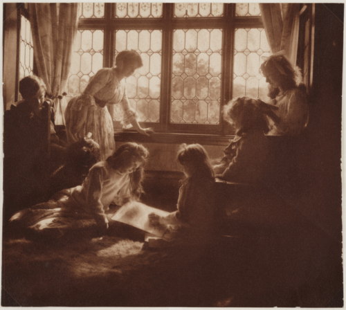 firsttimeuser:  'An Indoor Group' taken by Emma Barton in 1908