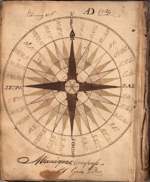 forbiddenalleys:  Hand drawn compass 1804 (by Aria Nadii)
